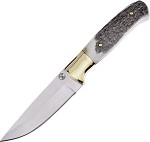 FWT057 Frost Cutlery Whitetail Fixed Blade Knife Stag