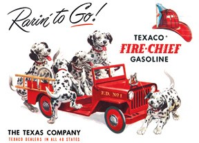TSN0594 Tin Sign - Texaco Rarin' To Go