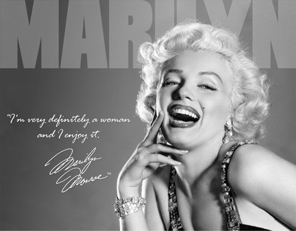 TSN1532 Tin Sign - Marilyn Monroe Definitely