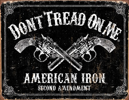 TSN1691 Tin Sign - Don't Tread on Me American Iron