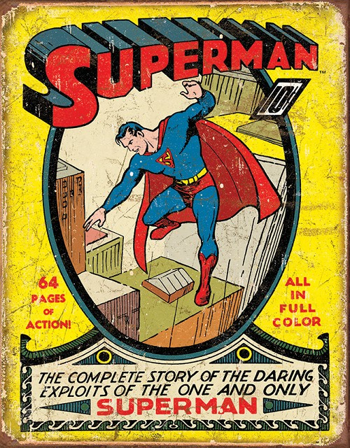 TSN1968 Tin Sign - Superman #1 Cover