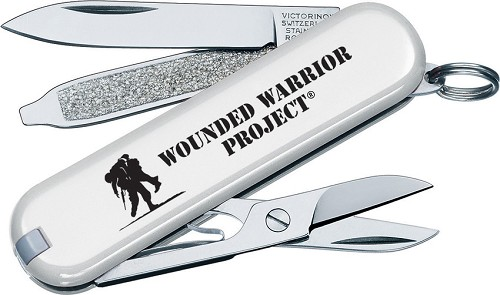 Vn55071 Victorinox Classic White Wounded Warrior Pocket Knife