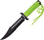 ZB103 Z-Hunter Fixed Blade Knife Green Cord Wrapped