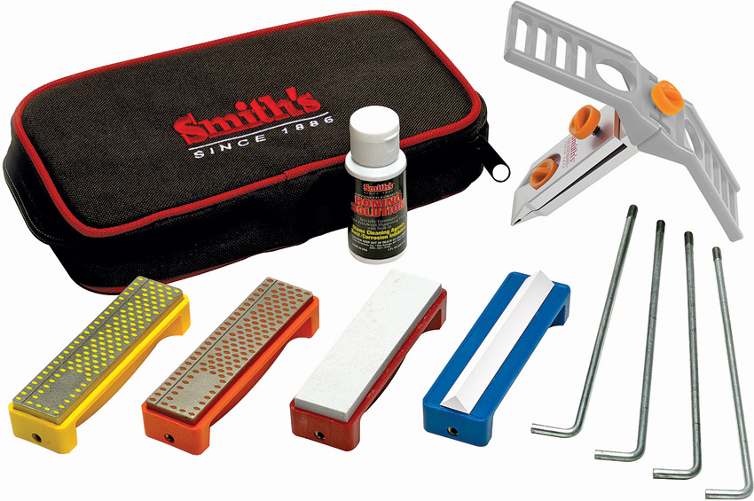 AC50591 Smith's Sharpeners Diamond/Arkansas Knife Sharpener Kit