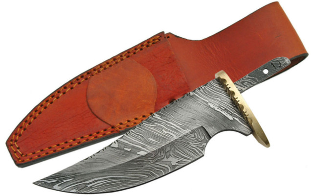 BLSODMB7 Knife Making Blade 7 Gauge Damascus Blade Blank