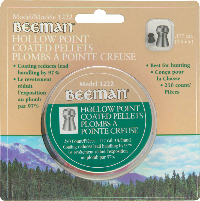 BM1222 Beeman Hollow Point Coated Pellets