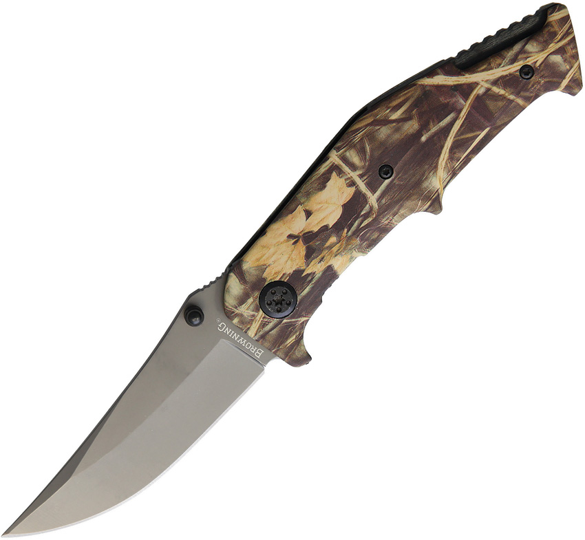 BR0306 Browning Camo Linerlock Pocket Knife A/O