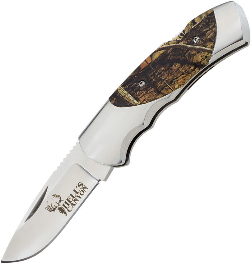 BR639 Browning Hell's Canyon Lockback Knife Camo