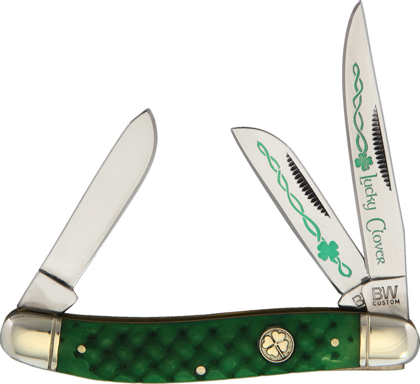 BWC34 Brian Wilhoite Good Luck Stockman Pocket Knife