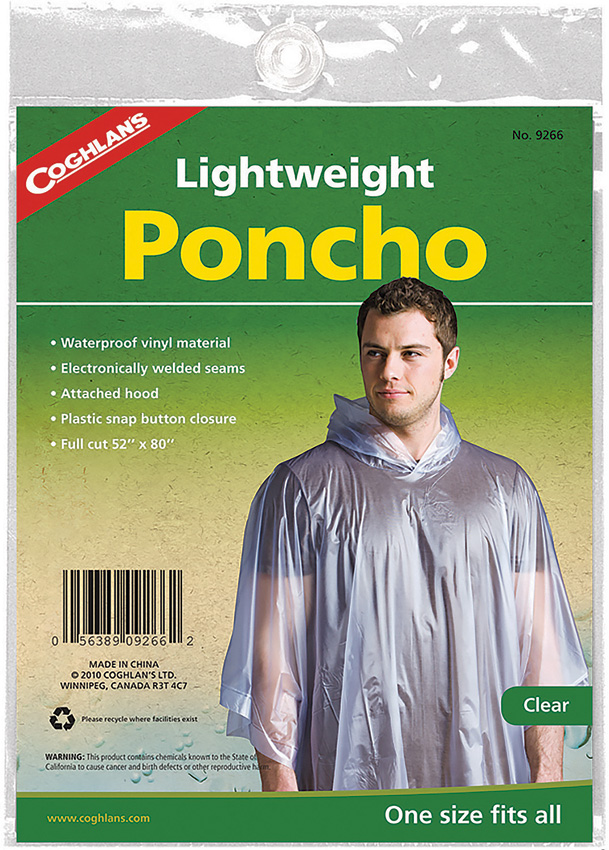 CGN9266 Coghlan's Poncho Clear