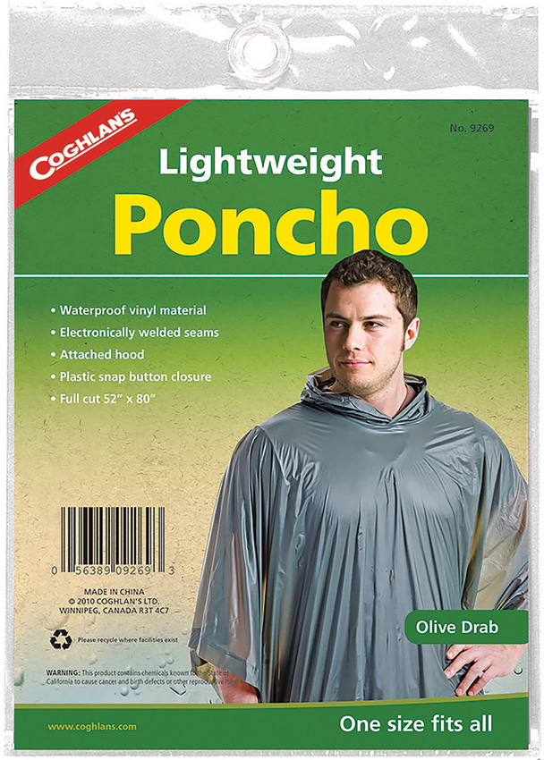 CGN9269 Coghlan's Poncho Olive Drab