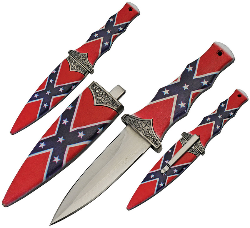 CN211467CF Boot Knife Confederate Flag