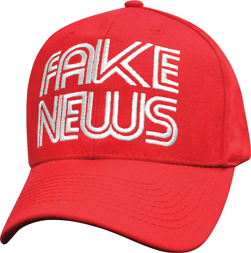 CPS43466 Donald Trump Re-Election Fake News Hat Red
