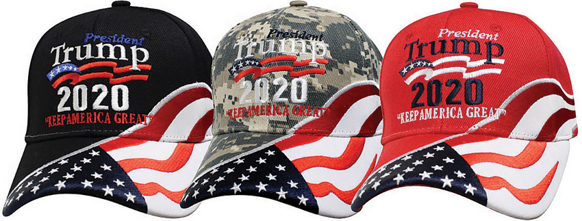 CPS44596 Donald Trump Re-Election Trump 2020 Hat Assorted Colors