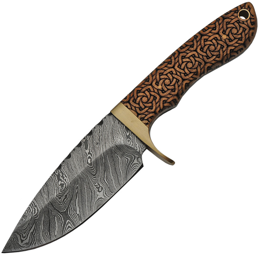 DM1208 Damascus Celtic Knot Hunter Knife
