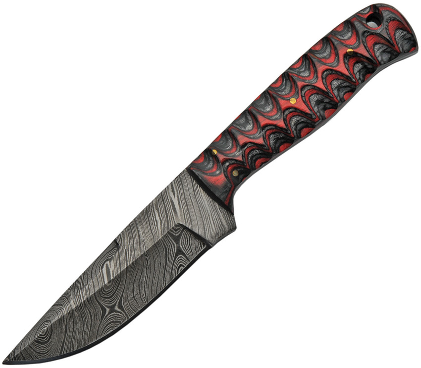 DM1219 Damascus Fixed Blade Knife