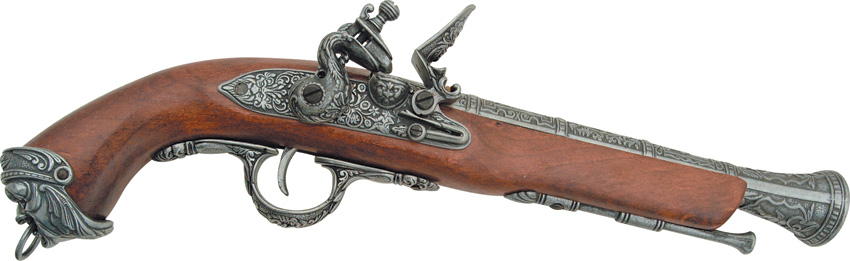 DX1031G Denix 18th Century Italian Flintlock Pirate Pistol Replica