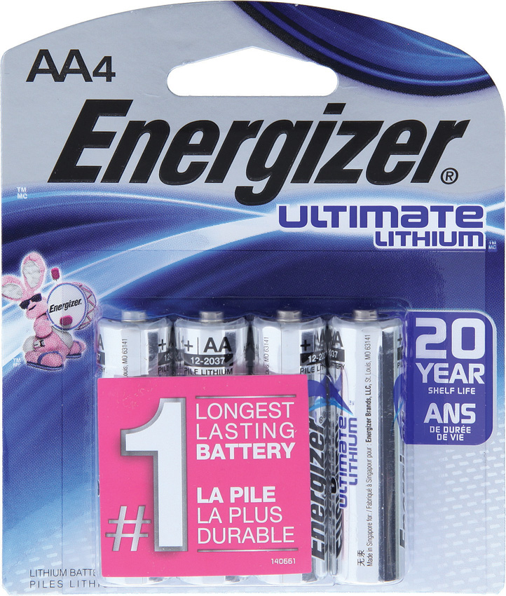 ENRL914 Energizer Ultimate Lithium AA Battery 4 Pack