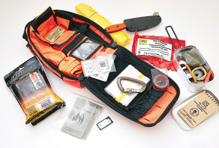 ESAKITOR ESEE Advanced Survival Kit with Orange Bag