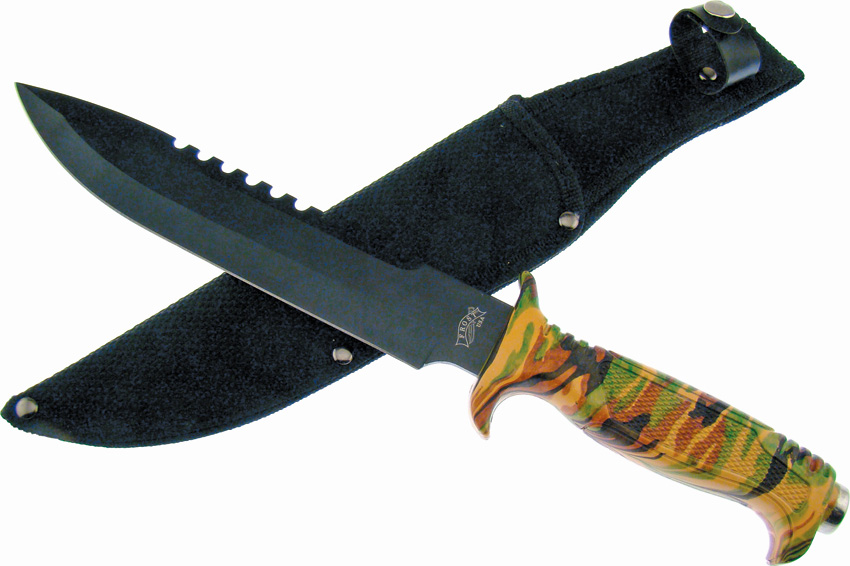 F18430CA Frost Cutlery Jungle Fever V Bowie Knife