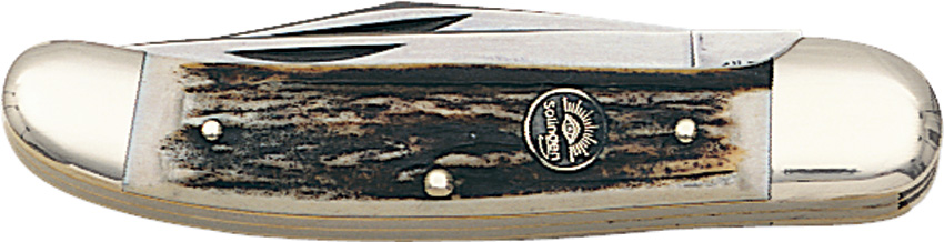 GEGXDS German Eye Copperhead Pocket Knife Stag