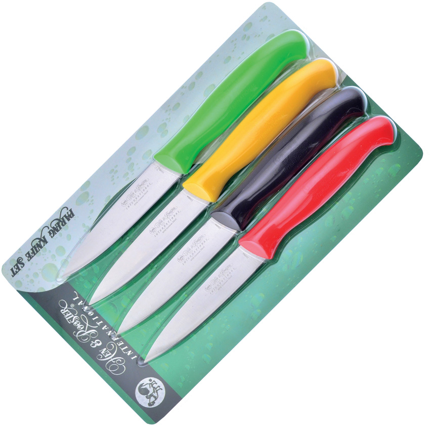 HRI054 Hen & Rooster Paring Knife Set