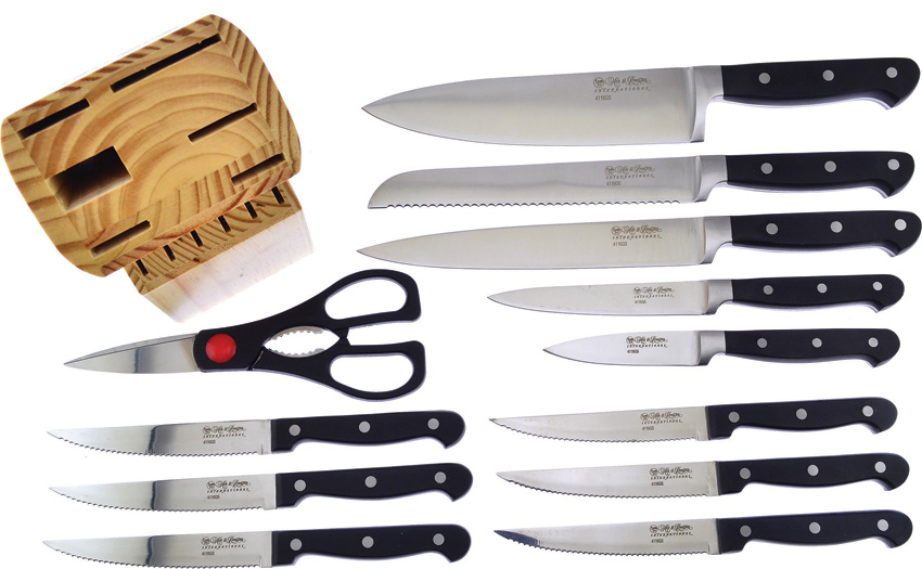 HRI060 Hen & Rooster Kitchen Knife Set 12 Pieces