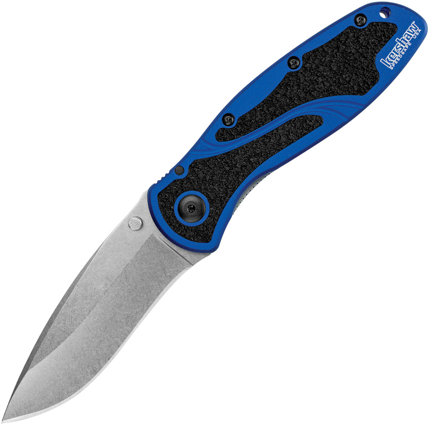 KS1670NBSW Kershaw Blur Linerlock Pocket Knife A/O Navy Blue