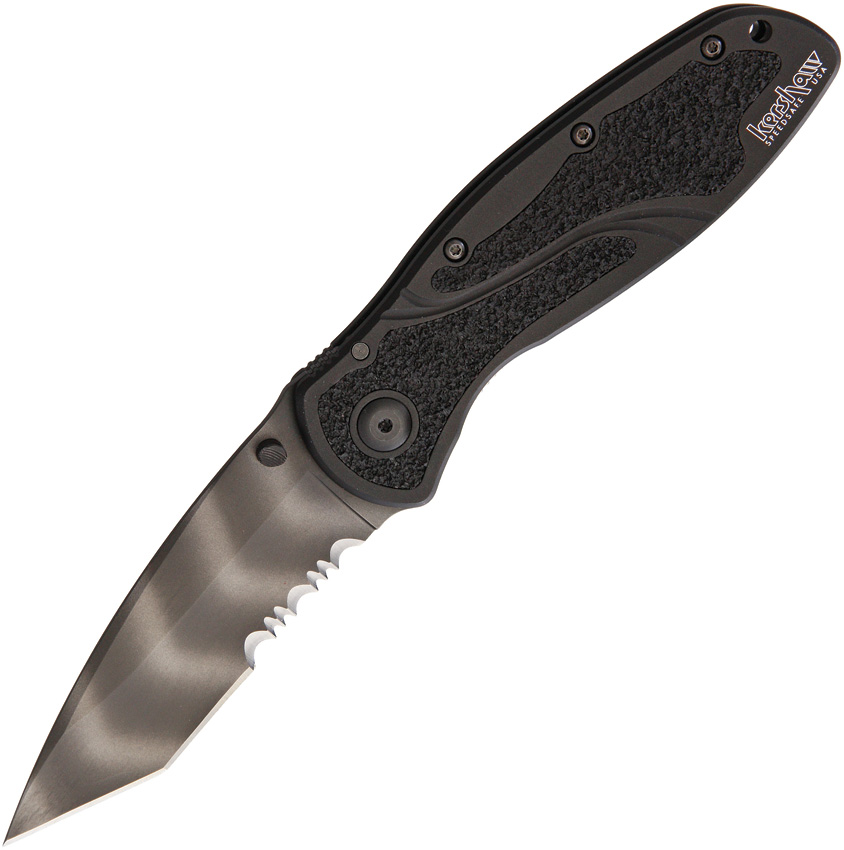 KS1670TTSST Kershaw Blur Linerlock Tiger Striped Serrated