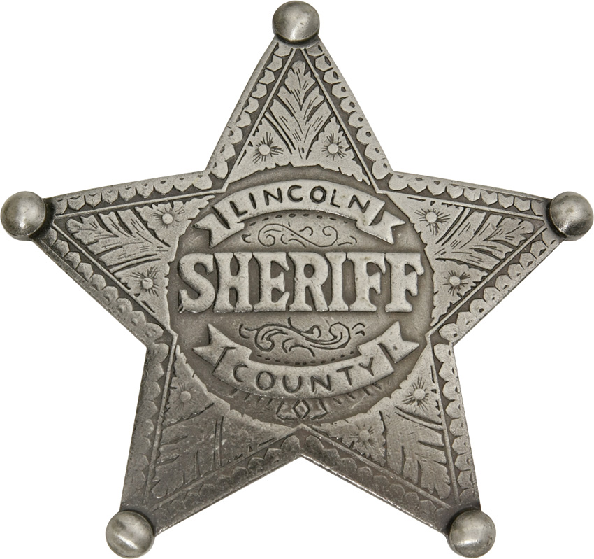 MI3006 Badges Of The Old West Lincoln County Sheriff Badge