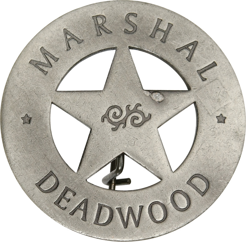 MI3007 Badges Of The Old West Marshal Deadwood Badge