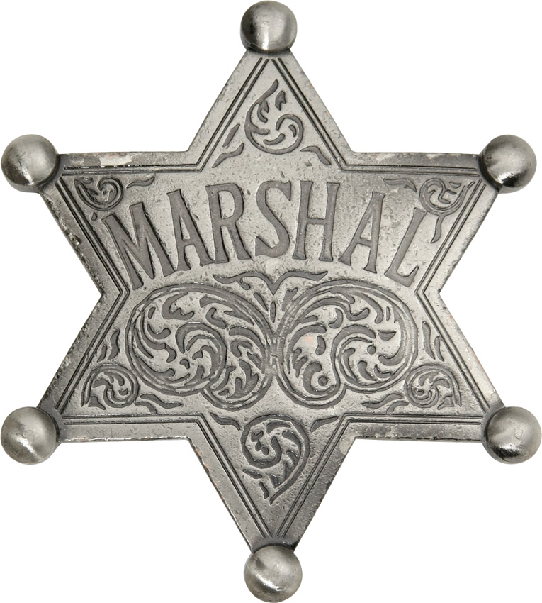 MI3008 Badges Of The Old West Marshal Badge