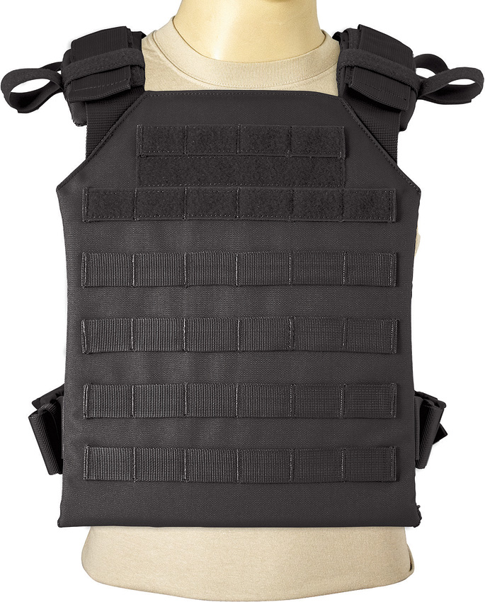 RED522BLK Red Rock Outdoor Gear MOLLE Plate Carrier Black