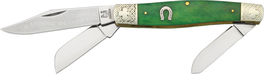 RR1057 Rough Rider A Stroke of Luck Series Stockman Pocket Knife