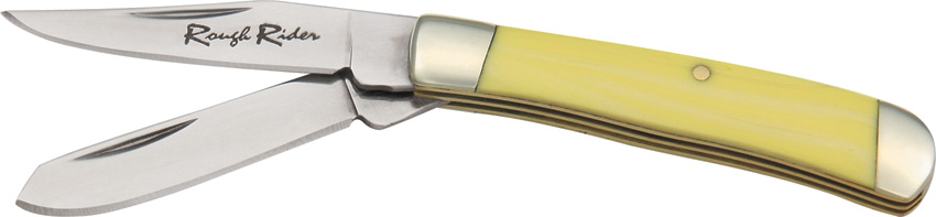 RR804 Rough Rider Tiny Trapper Old Yellow Series Pocket Knife