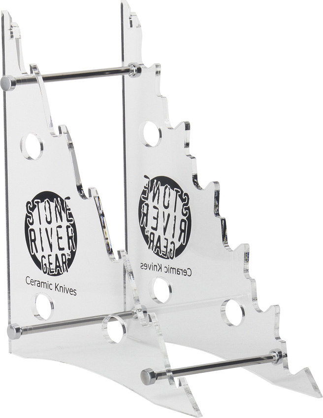 SRG6CKS Stone River Gear Plexiglass Knife Display Stand
