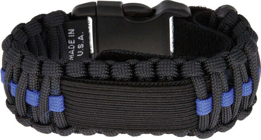 SRV01B Survco Tactical Para Cord Watch Band Blue Line