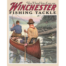 TSN1008 Tin Sign - Winchester Fishing Tackle