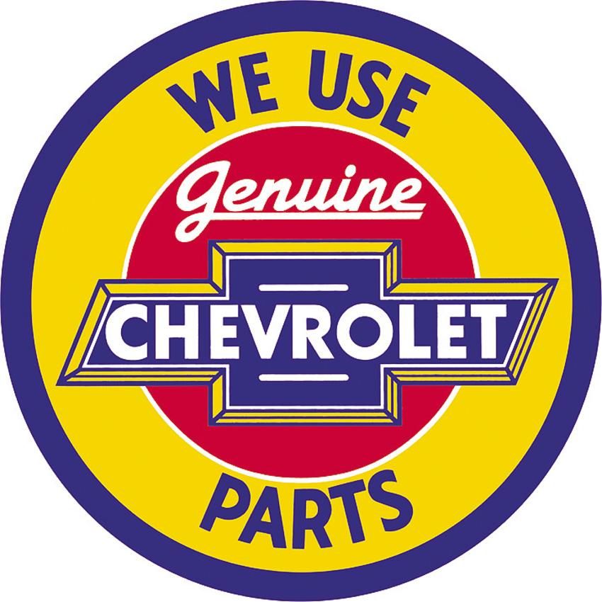TSN1072 Tin Sign - Chevy Genuine Parts