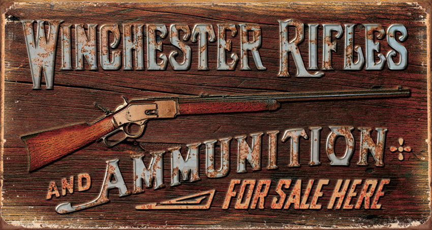 TSN1862 Tin Sign - Winchester Rifles & Ammo