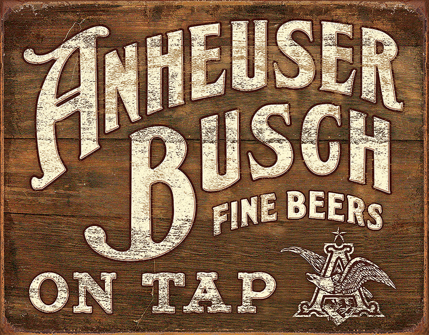 the ideas and inventions of anheuser busch Anheuser busch bottled beer sign is a brand new vintage tin sign made to look vintage, old, antique, retro purchase your vintage tin sign from the vintage sign shack and save anheuser busch bottled vintage beer sign reproduction provides just the right accent for your home, business or.