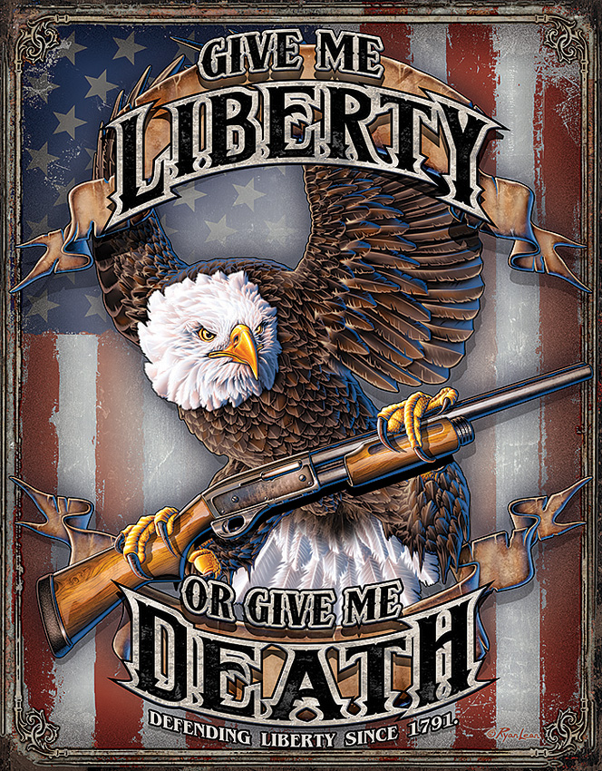 TSN2185 Tin Sign - Give Me Liberty