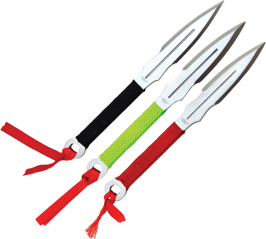 UZKTRW005 Uzi Three Piece Throwing Knife Set