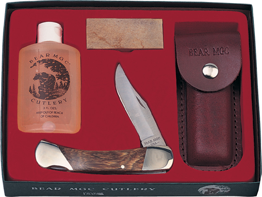 BCS297R Bear & Son Folding Hunter Knife Set