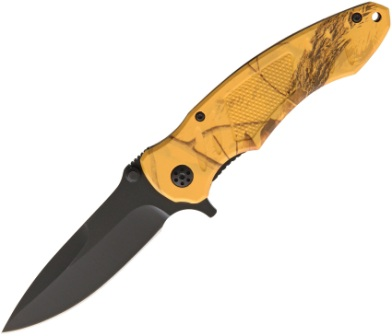 AB024AB ABKT Tac Realtree Blaze Orange Renegade Linerlock Pocket Knife