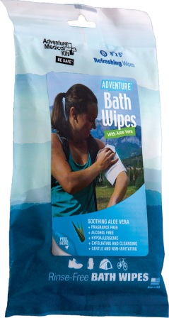 AD0304 Adventure Medical Kits Travel Bath Wipes