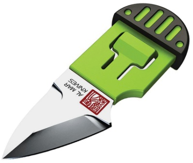 AMK1001BKG Al Mar Stinger Keyring Knife Green