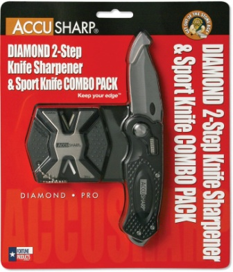 AS046C AccuSharp Wheel Lock Pocket Knife/PRO Combo