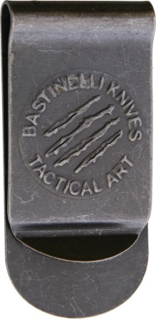 BAS17B Bastinelli Creations Tactical Art Money Clip Black