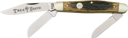 BO117474BBL Boker Tree Brand Stockman Pocket Knife Beer Barrel Wood